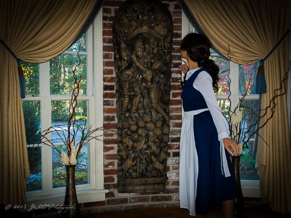 Belle finds a statue of Shiva